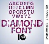 diamond glamorous font | Shutterstock .eps vector #175220405