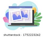 photo picture online album and... | Shutterstock .eps vector #1752223262