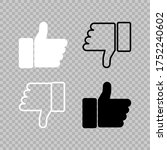 thumbs up and down icons. like... | Shutterstock .eps vector #1752240602