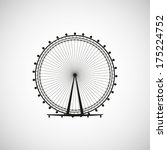ferris wheel from amusement... | Shutterstock .eps vector #175224752