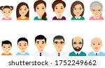 set of european age group ... | Shutterstock .eps vector #1752249662
