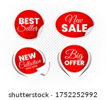 high quality sale tags vector... | Shutterstock .eps vector #1752252992