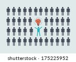 people icons  think different... | Shutterstock .eps vector #175225952