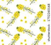 pattern rape flowers  canola....   Shutterstock .eps vector #1752260168