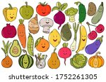 cute colorful black outline... | Shutterstock .eps vector #1752261305