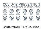 coronavirus covid19 prevention... | Shutterstock . vector #1752271055