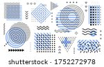 collection of retro elements.... | Shutterstock .eps vector #1752272978