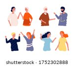 people meeting after isolation. ... | Shutterstock .eps vector #1752302888