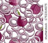 outline red onion vector... | Shutterstock .eps vector #1752314075