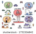 people who are socially... | Shutterstock .eps vector #1752336842