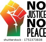 no justice no peace banner...   Shutterstock .eps vector #1752373838