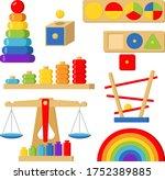 stock vector of montessori toys ... | Shutterstock .eps vector #1752389885