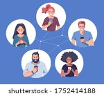 diverse group of people with... | Shutterstock .eps vector #1752414188