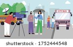 reporter news flat composition... | Shutterstock .eps vector #1752444548