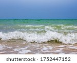 sea waves. coast. sea waves in... | Shutterstock . vector #1752447152