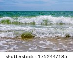 sea waves. coast. waves in sea | Shutterstock . vector #1752447185