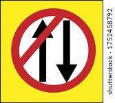 illustration of traffic sign to ... | Shutterstock .eps vector #1752458792