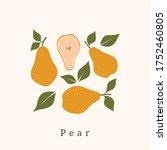 stylish pear vector design....   Shutterstock .eps vector #1752460805