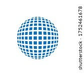 abstract grid sphere logo....   Shutterstock .eps vector #1752461678
