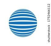 abstract stripes sphere logo....   Shutterstock .eps vector #1752466112