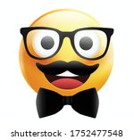high quality emoticon on white... | Shutterstock .eps vector #1752477548
