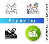mining engineer icon. heavy...   Shutterstock .eps vector #1752485495