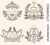 wedding invitation card...   Shutterstock .eps vector #1752485822