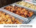 grilled chicken wings and... | Shutterstock . vector #175255538