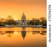Stock photo the united states capitol building in washington dc sunrise 175256558