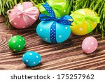 decorative eggs for easter is... | Shutterstock . vector #175257962