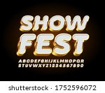 vector luxury poster show fest... | Shutterstock .eps vector #1752596072