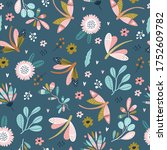 colorful seamless pattern with... | Shutterstock .eps vector #1752609782