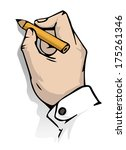 hand writing  vector...   Shutterstock .eps vector #175261346