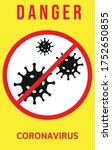 covid covid 19 sign virus... | Shutterstock .eps vector #1752650855