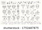 zodiac signs. vector hand drawn.... | Shutterstock .eps vector #1752687875