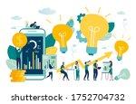 vector business illustration ... | Shutterstock .eps vector #1752704732