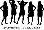 women silhouettes on a white... | Shutterstock .eps vector #1752705155