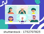 people talk to each other on... | Shutterstock .eps vector #1752707825