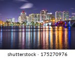 west palm beach  florida... | Shutterstock . vector #175270976