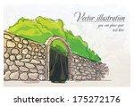 Stone Wall In A Garden....