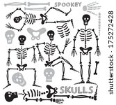couple of skeletons  | Shutterstock .eps vector #175272428