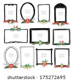 floral frame collection   | Shutterstock .eps vector #175272695
