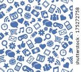seamless social media patterns | Shutterstock .eps vector #175272758