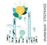 vector illustration  a man... | Shutterstock .eps vector #1752741422