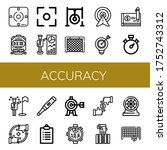 accuracy simple icons set.... | Shutterstock .eps vector #1752743312