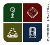 Roadsign Icon Set. Collection...