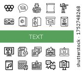 Text Icon Set. Collection Of...