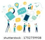 vector illustration  marketing  ... | Shutterstock .eps vector #1752759938