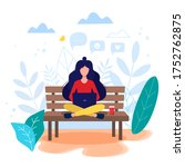 freelance  online work  work... | Shutterstock .eps vector #1752762875