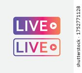 live streaming icon  live... | Shutterstock .eps vector #1752771128
